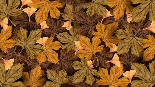 Осенние сухие листья фон