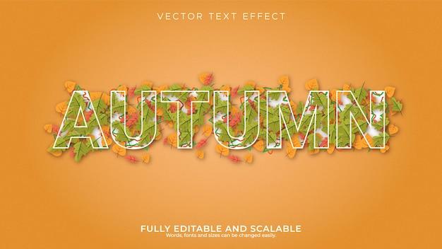 Осенний редактируемый текстовый эффект в современном 3d стиле