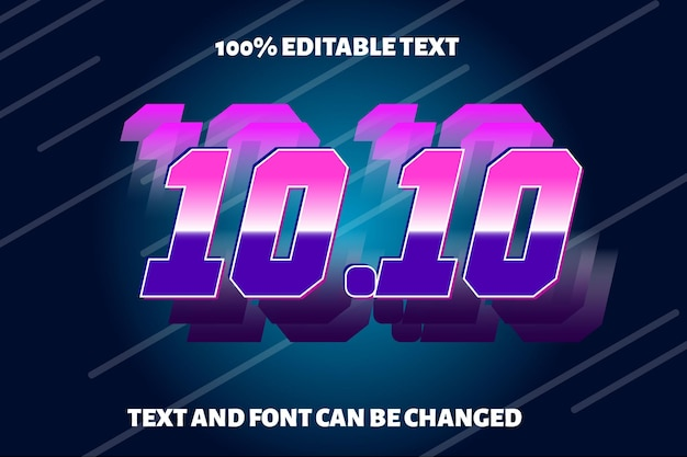 Autumn editable text effect modern style