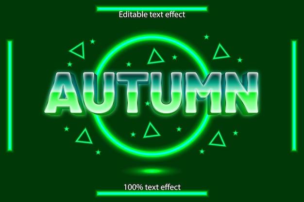 秋の編集可能なテキスト効果ネオンスタイル