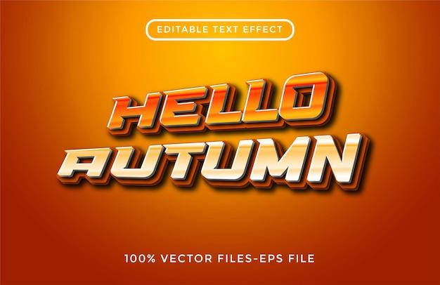 Осенний редактируемый текстовый эффект премиум векторы