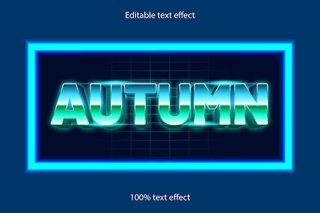ネオンスタイルでレトロな秋の編集可能なテキスト効果