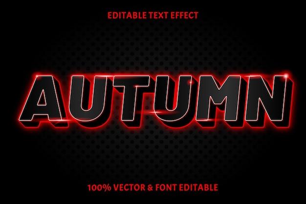 Осенний редактируемый текст эффект