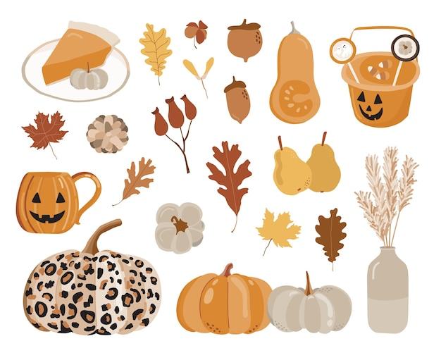 秋の要素セット