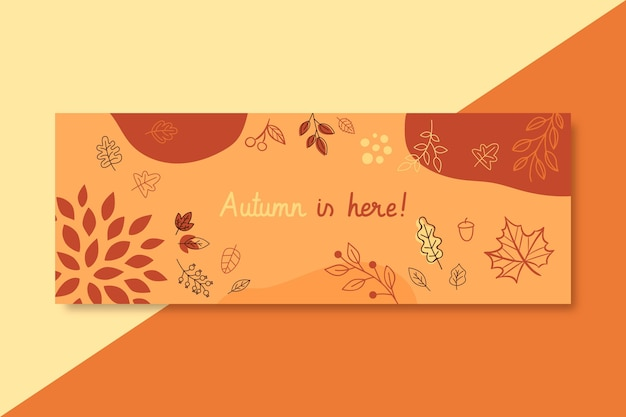 Autumn facebook cover template