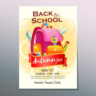 Autumn fair back to school poster