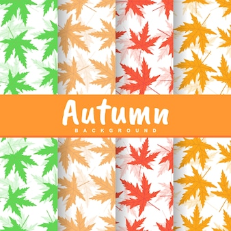 Autumn fall colorful leaves seamless pattern