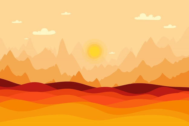Autumn fall landscape background, sunset background