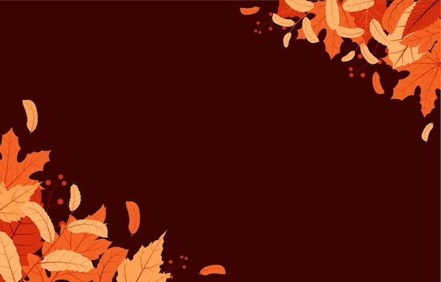 秋秋シーズンリーフグリーティング招待状カード美しい自然の背景