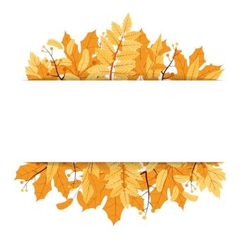 Осенний сезон падения листьев приветствие приглашение карты фоне кадра букет