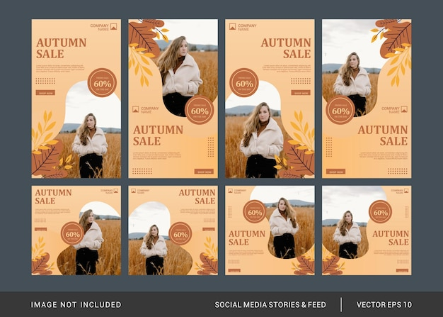 가을 패션 소셜 미디어 게시물 템플릿