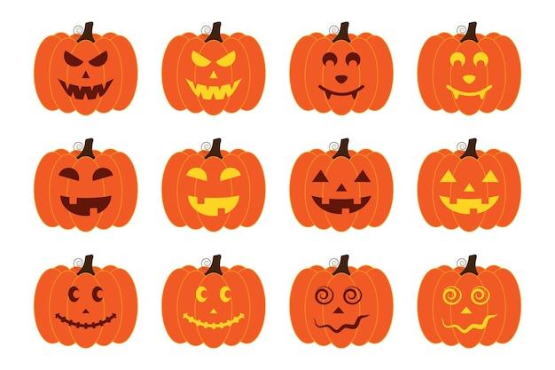 Осенний фестиваль тыквенных фонарей с разными выражениями.