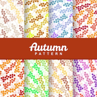 Autumn floral berry fruit seamless pattern