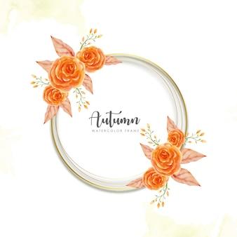 秋の花のフレーム