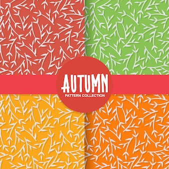 Осенний цветочный справочный документ с листьями дерева на красочный фон