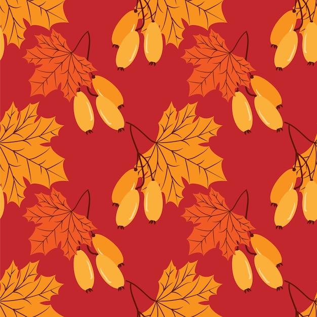Осенний цветочный бесшовные модели.