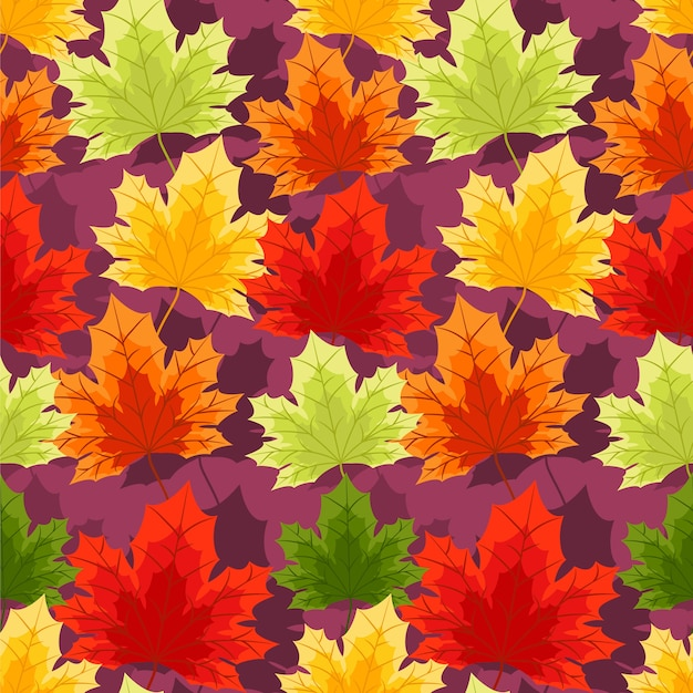 秋の花のシームレスなパターン。