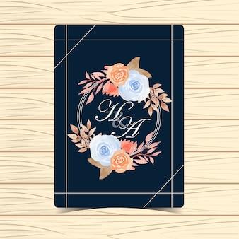 Autumn floral wedding badge