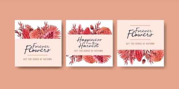 광고 및 마케팅을위한 가을 꽃 컨셉 디자인
