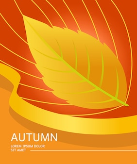 Autumn flyer with leaf shape