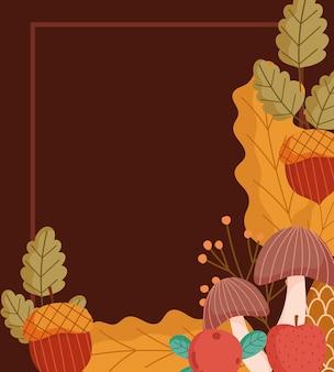 가을 단풍과 과일