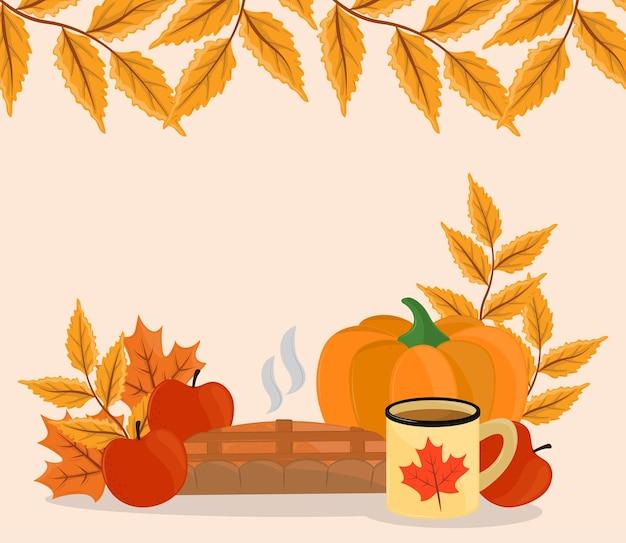 가을 음식과 단풍