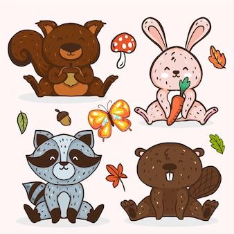 가을 숲 동물 컬렉션