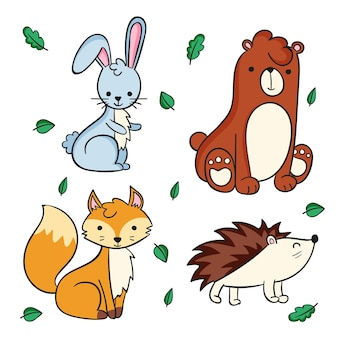 Autumn forest animals pack