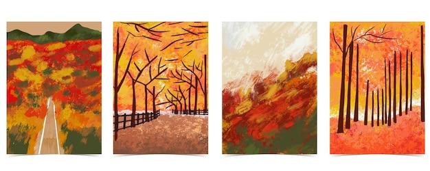 나무, 잎, 하늘, 도로가 숲 배경