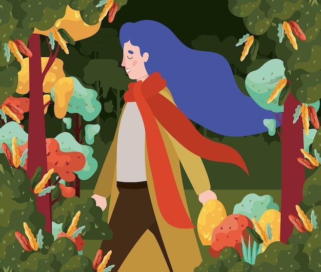 Autumn forest background