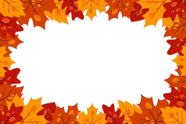 Осенний элемент вектора кадра