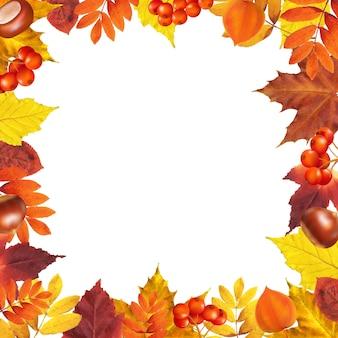 グラデーションメッシュの秋のフレーム