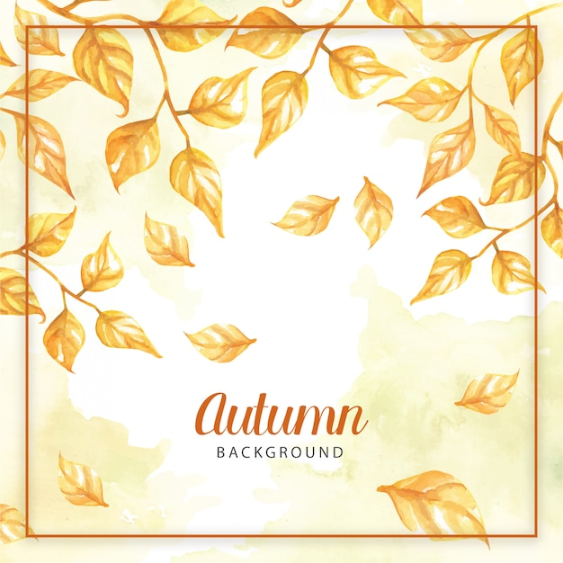 Autumn frame with leaves background