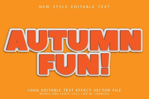 Осенний забавный редактируемый текстовый эффект в современном стиле