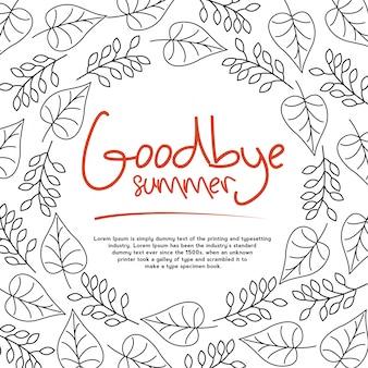 Autumn goodbye summer card