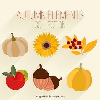 秋の手描きの要素