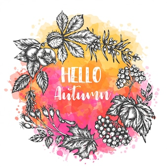 Autumn hand drawn illustration