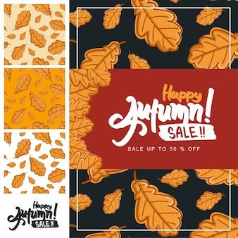 Autumn handrawn calligraphy pattern