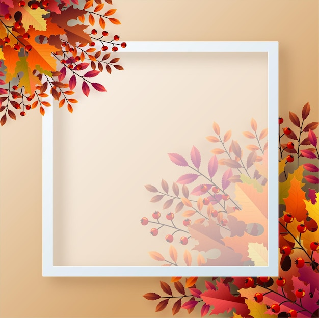 カラフルな紅葉と秋の休日の季節の背景