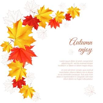 Autumn horizontal banner.