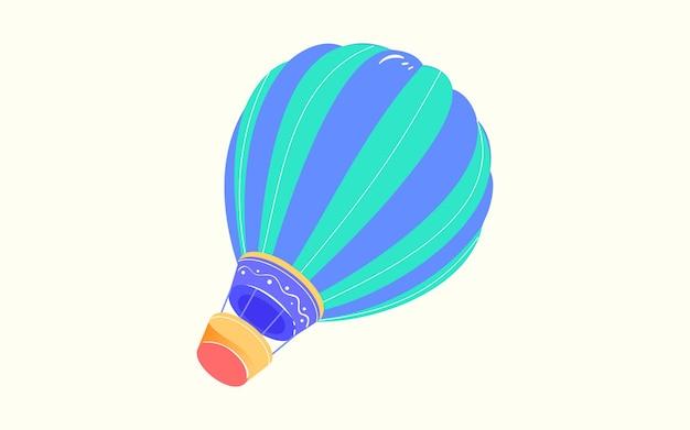 Autumn hot air balloon travel illustration sky flight adventure travel poster