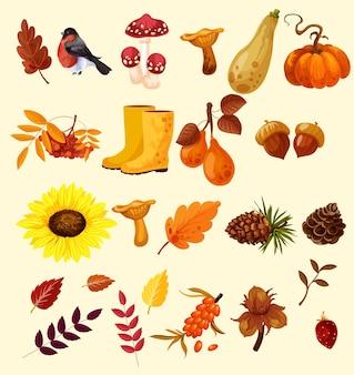 Осенний набор иллюстраций