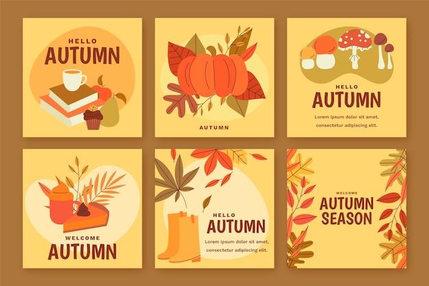 秋のインスタグラム投稿コレクション