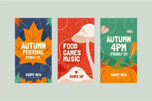 Autumn instagram stories collection