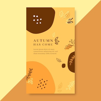 Autumn instagram story template