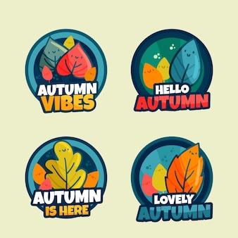 가을 라벨 컬렉션