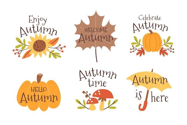 Autumn labels collection