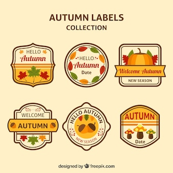 Autumn labels with fun style