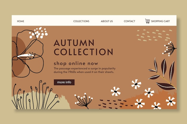 Autumn landing page template