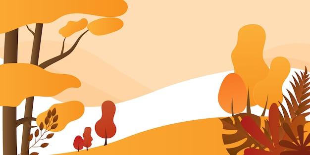 Осенний пейзаж фона